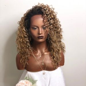CLAUDIA | BLONDE CURLY LACE FRONT WIG